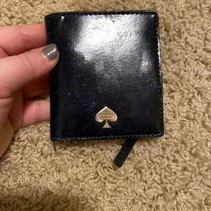 Kate Spade Blue Glitter Wallet